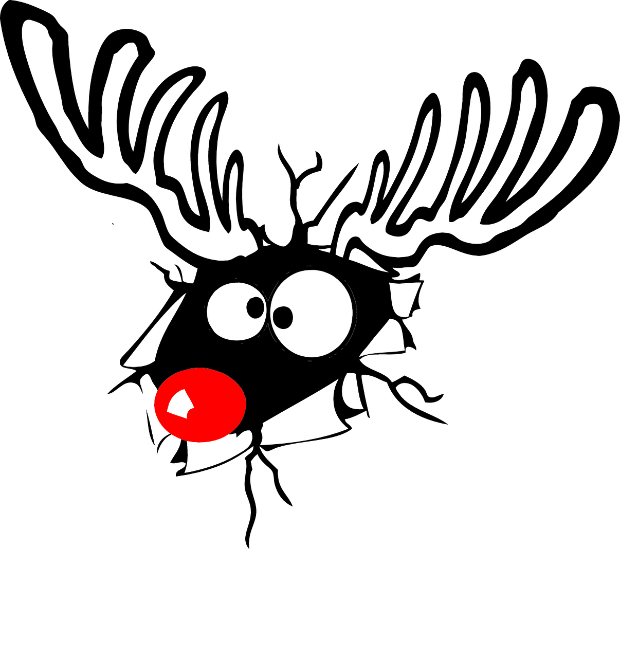 Free Image On Pixabay Reindeer Rudolph Red Nose Christmas Jokes Christmas Illustration Rudolph The Red