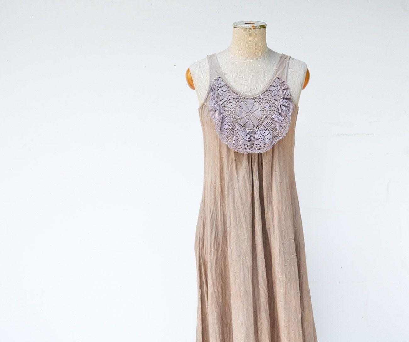 Long linen dress by zojka s sizeooak woman unique fashion