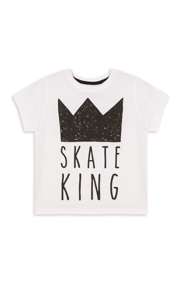 White Skate King T-Shirt