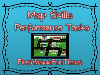 Map Skills Performance Tasks - Create a Map | Map skills, Social ...