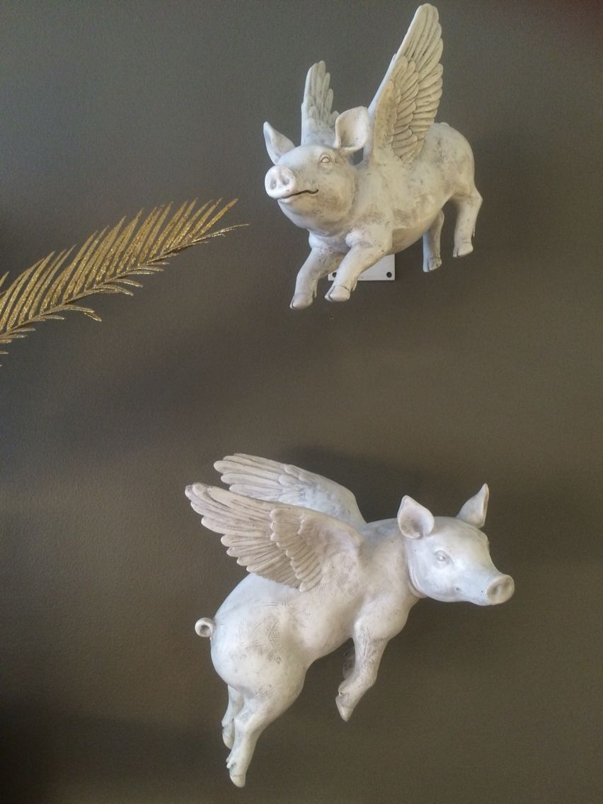 flying pigs wall decor at tora home design set of 2 resin flying pigs that