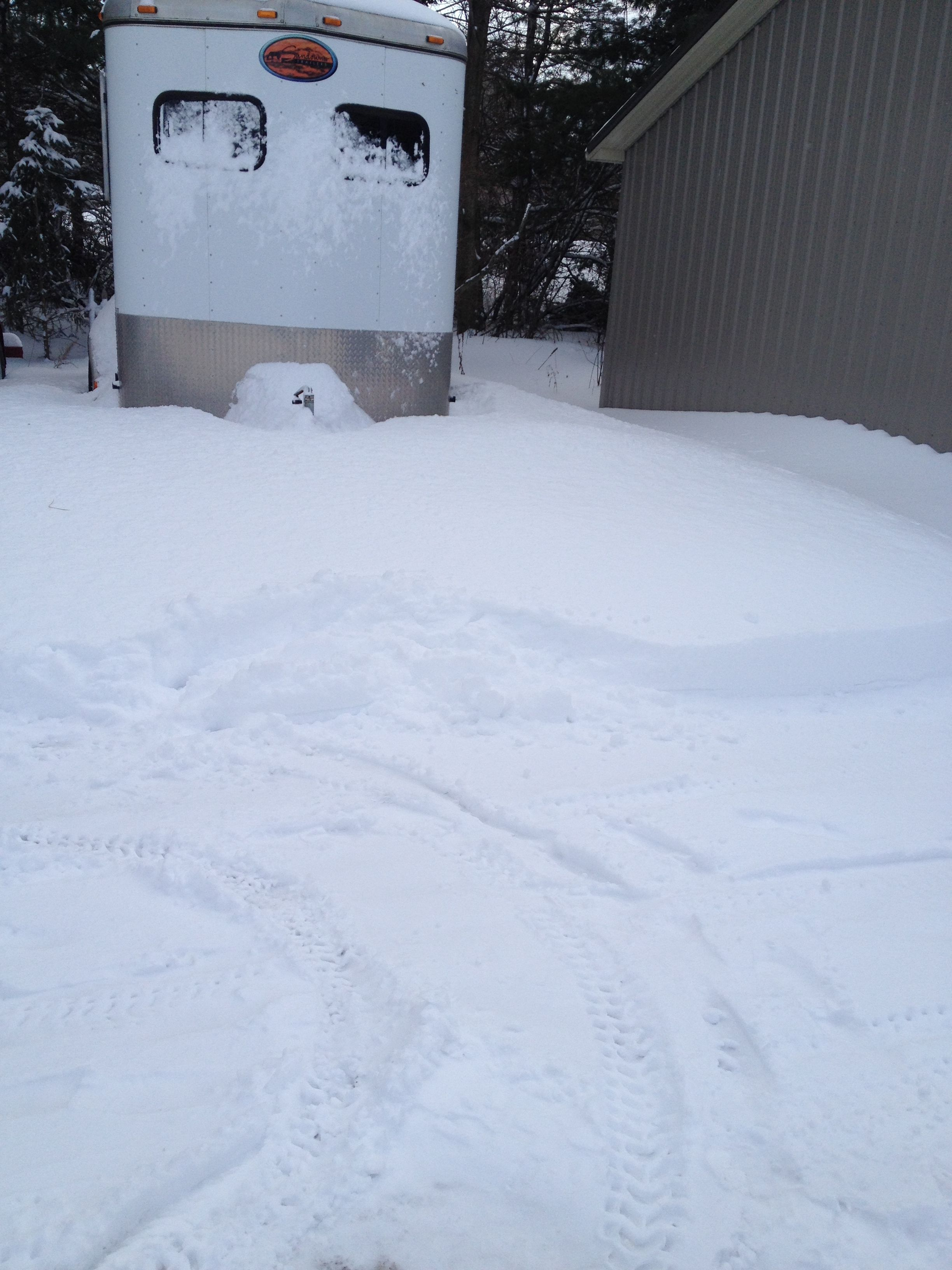 My Horse Trailer In The Snow ........... (With Images