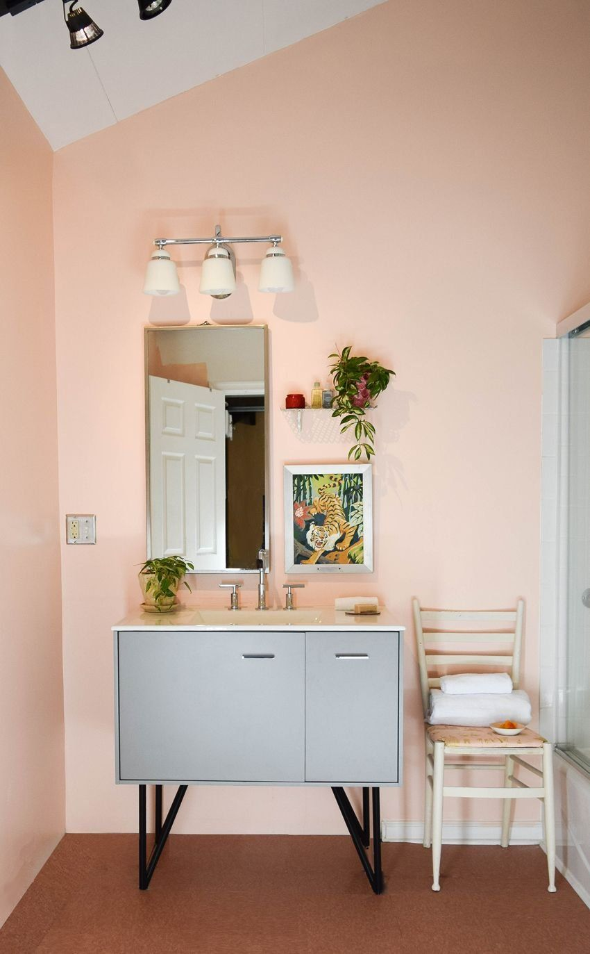 A Bathroom Remodel With Finishes That Are Just Peachy.