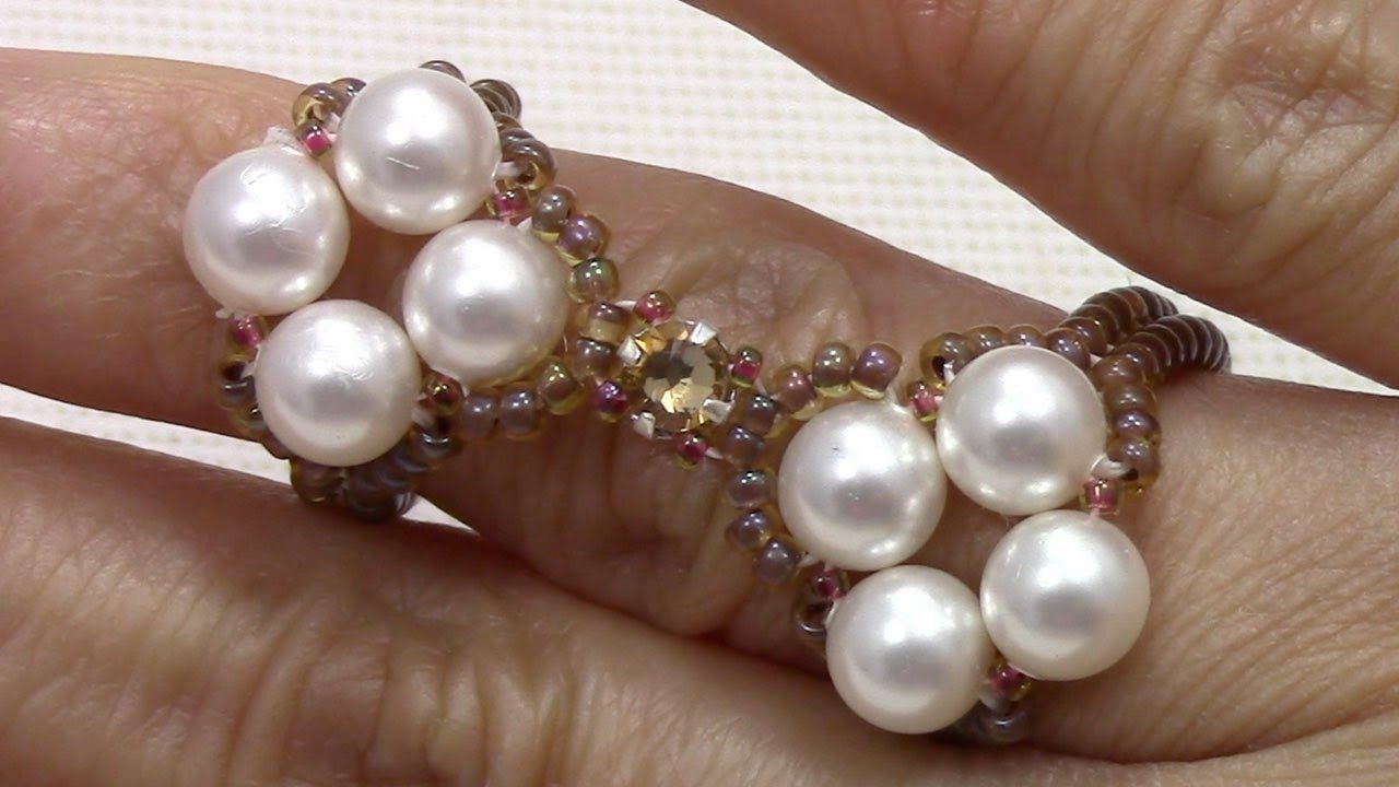 Raw Pearl and Montee Ring | beads videos | Pinterest | Pearls ...