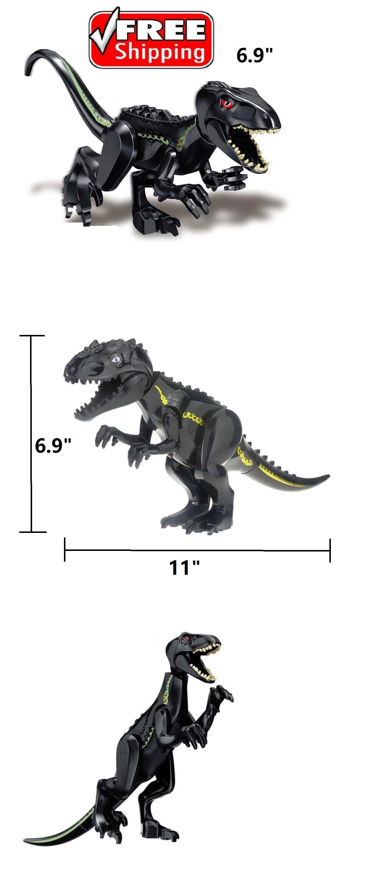 ☀️ Black Indoraptor Big Dinosaur Jurassic World Fallen Kingdom Park fit LEGO