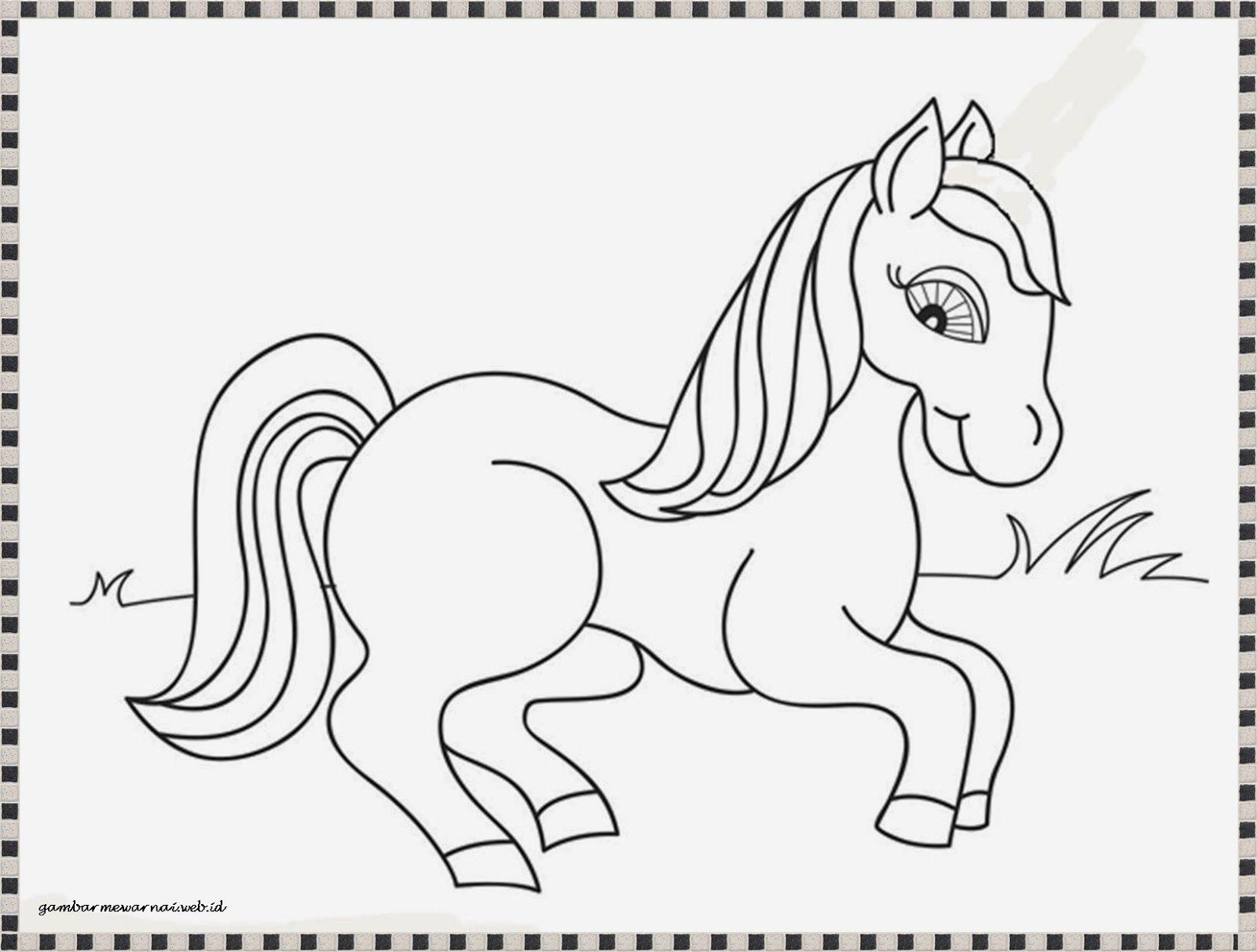 Mewarnai Gambar Anak Kuda Poni Yang Lucu Gambar Mewarnai Pinterest