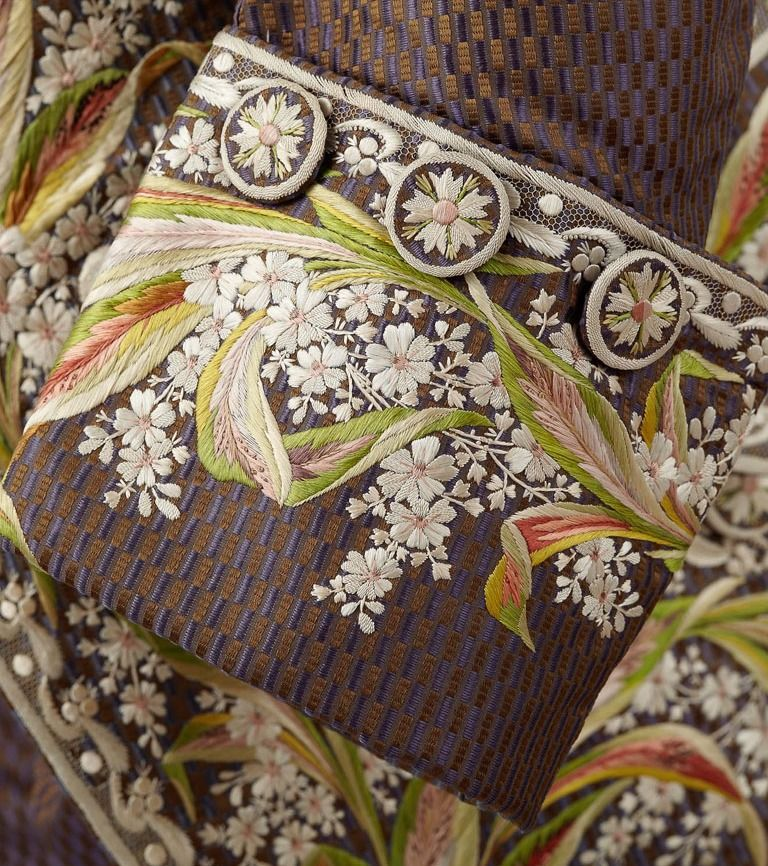 Detail of jacket owned by Marquis de Beauharnais, Fripperies and Fobs