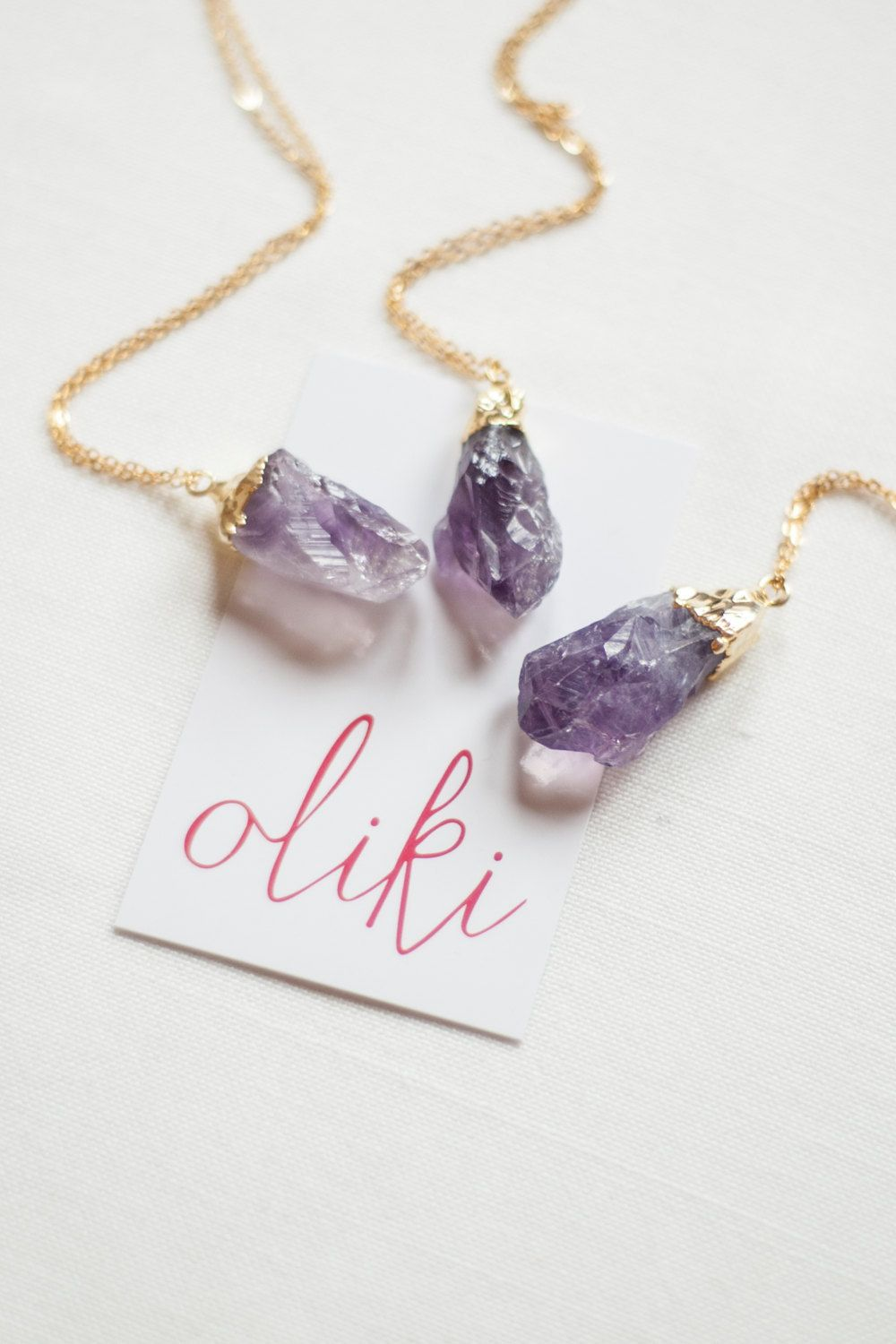 Crystal necklace amethyst necklace gemstone necklace for her mom crystal necklace amethyst necklace gemstone necklace for her mom gift sister gift girlfriend gift negle Choice Image
