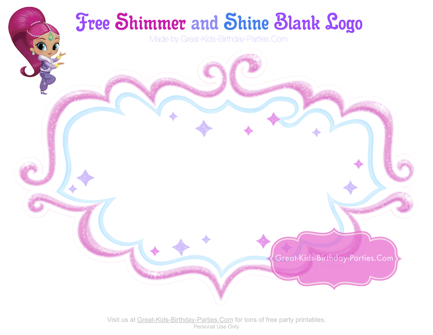 Garden Wall Stickers Shimmer And Shine Party Shimmer Amp Shine Party