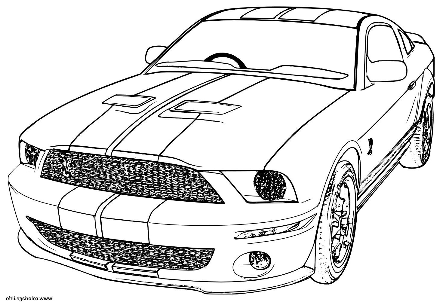 ford mustang voiture de course coloriage # ...