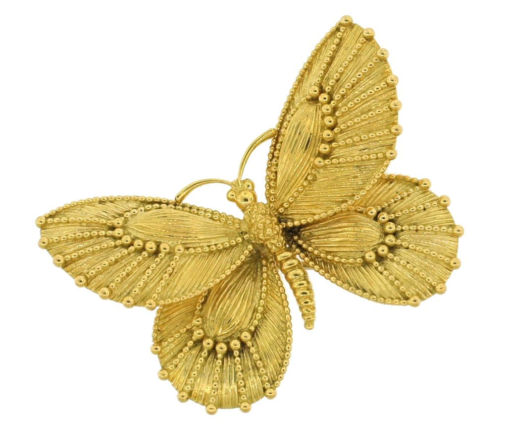 VAN CLEEF & ARPELS Yellow Gold Butterfly Pin image 2