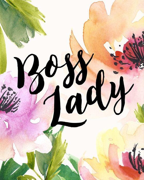 Boss Lady Printable Art Print 8x10 Boss Lady Print Unique