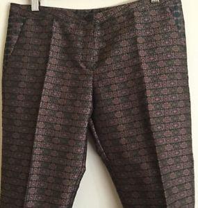 New French Designer International France Cotton Cotelac Print Pants Size 1 0 | eBay