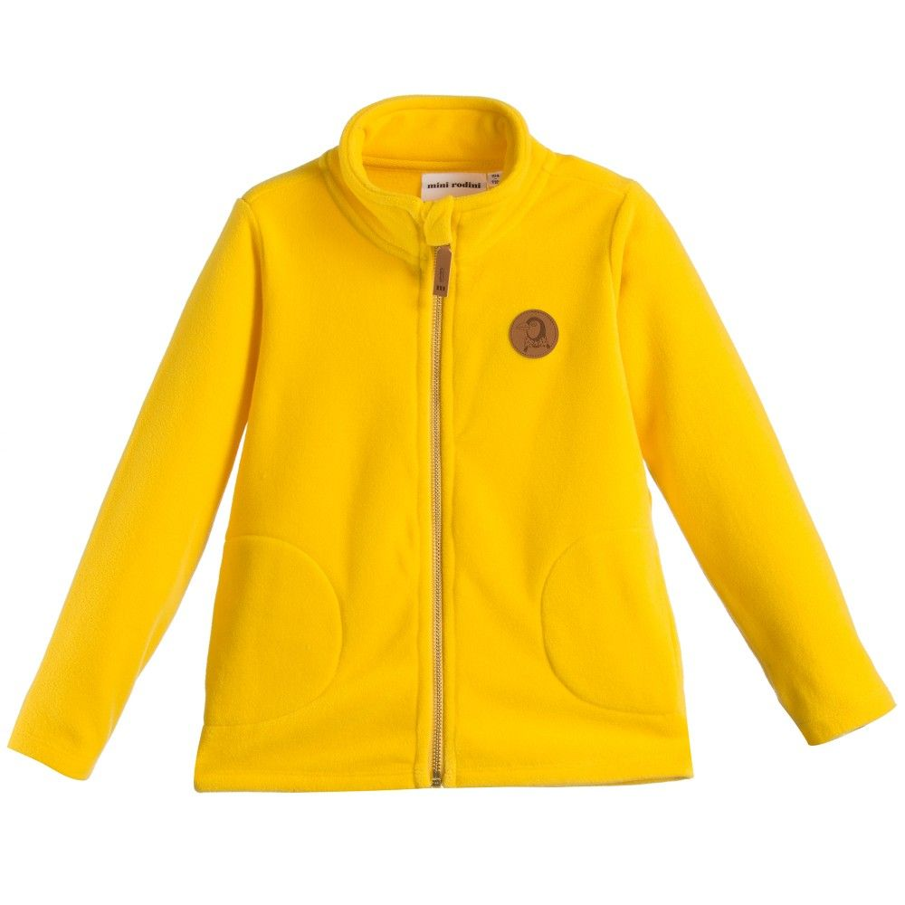 Yellow Fleece Zip-Up Top , Mini Rodini | FLEECE KIDS CHILDREN ...