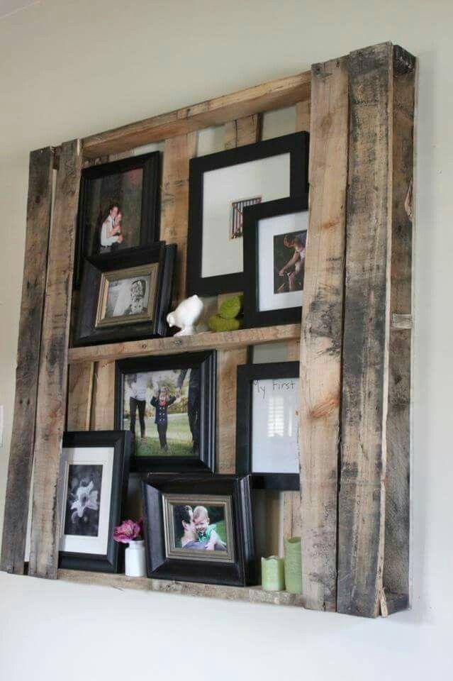 Paletten Foto Wand | fotowand deko | Pinterest | Wände, Fotowand und ...