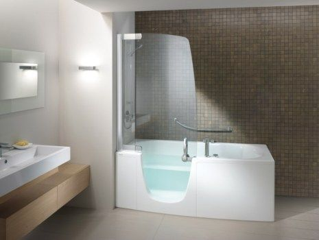 Lovely A Walk In Shower/whirlpool Tub Combo That Doesnu0027t Look Hideous