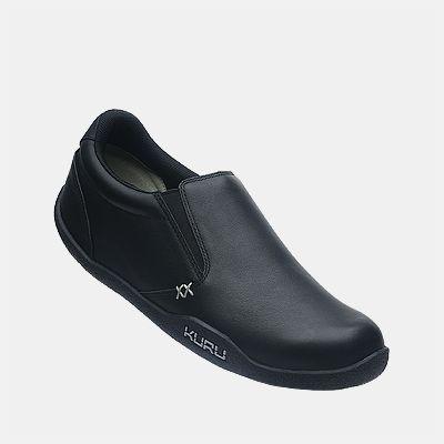 kivi women's casual slipon shoe black leather pair