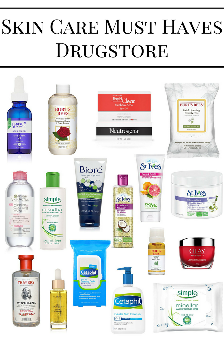 Skin Care Must Haves Drugstore Edition Aging Skin Care Organic Skin Care Skin Care Remedies
