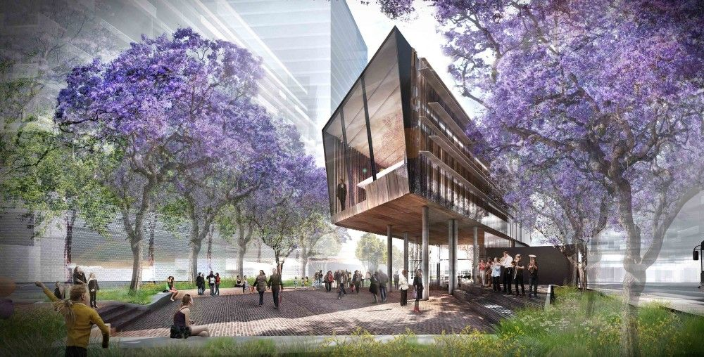 Gallery of green square library competition entry aspect for Aspect landscape architects