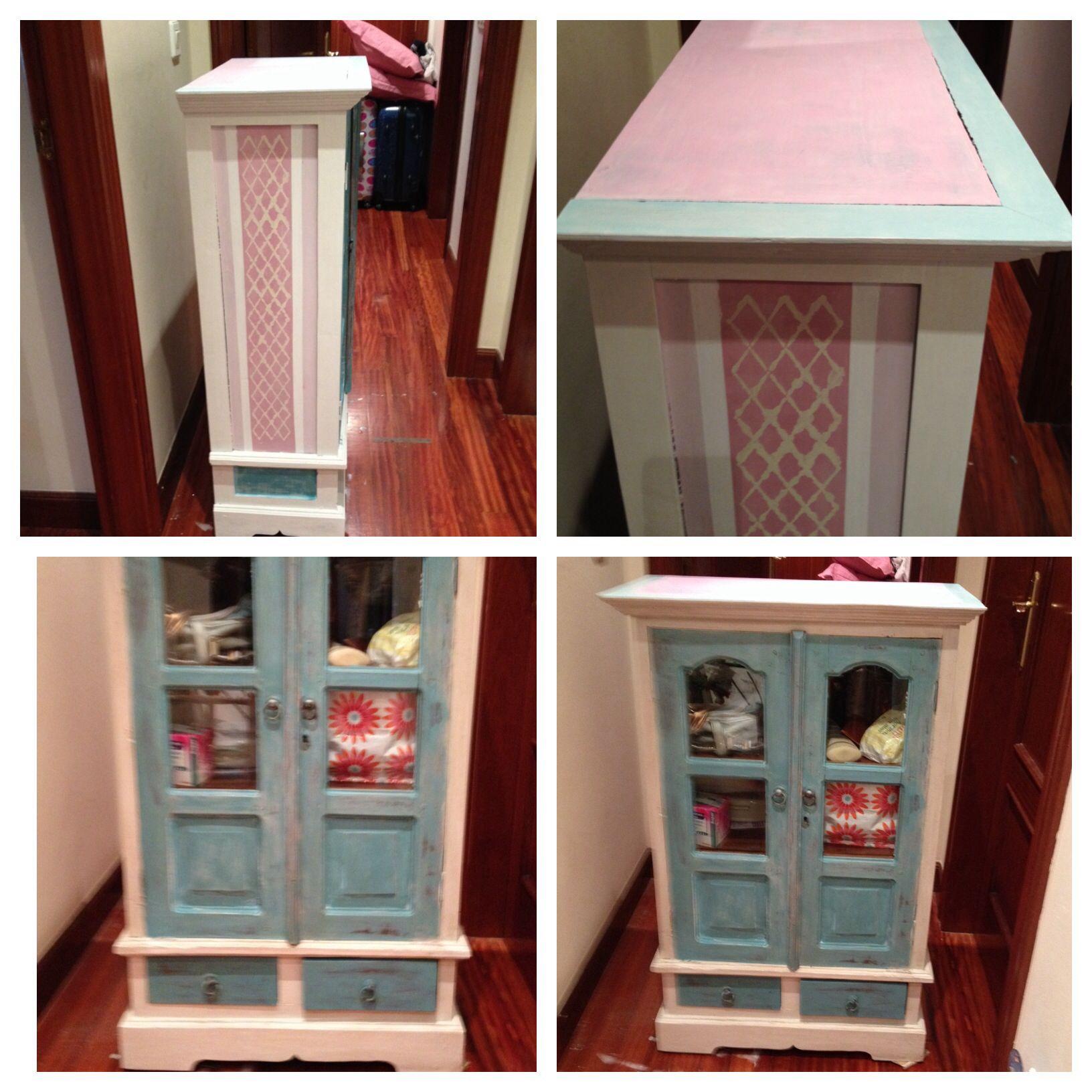 Mueble pintado con chalk paint y encerado muebles - Pintar muebles chalk paint ...