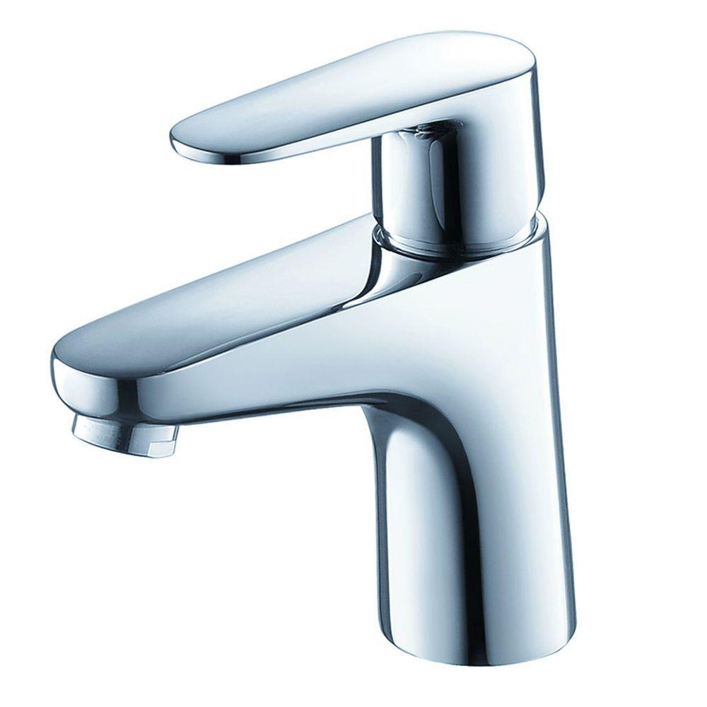 Fresca Diveria Single Hole 1 Handle Low Arc Bathroom Faucet In