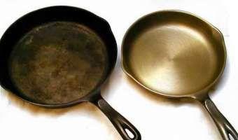 изненадващо начин за отстраняване на ръжда от метални предмети кухненски ефективно Seasoning Cast Iron Cast Iron Cleaning Cleaning Cast Iron Pans