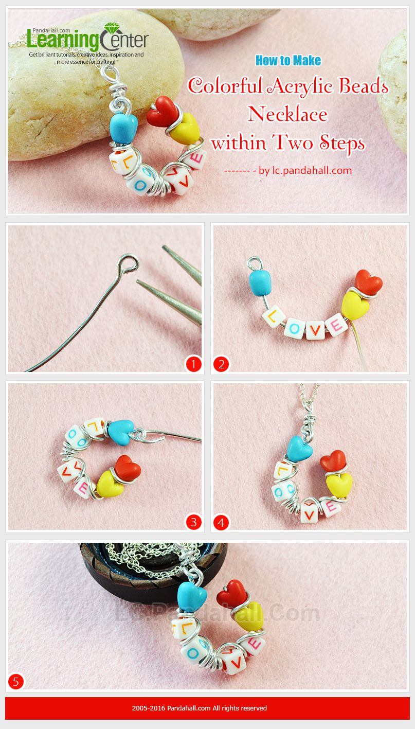 Tutorial on How to Make Colorful Acrylic Beads Necklace within Two ...