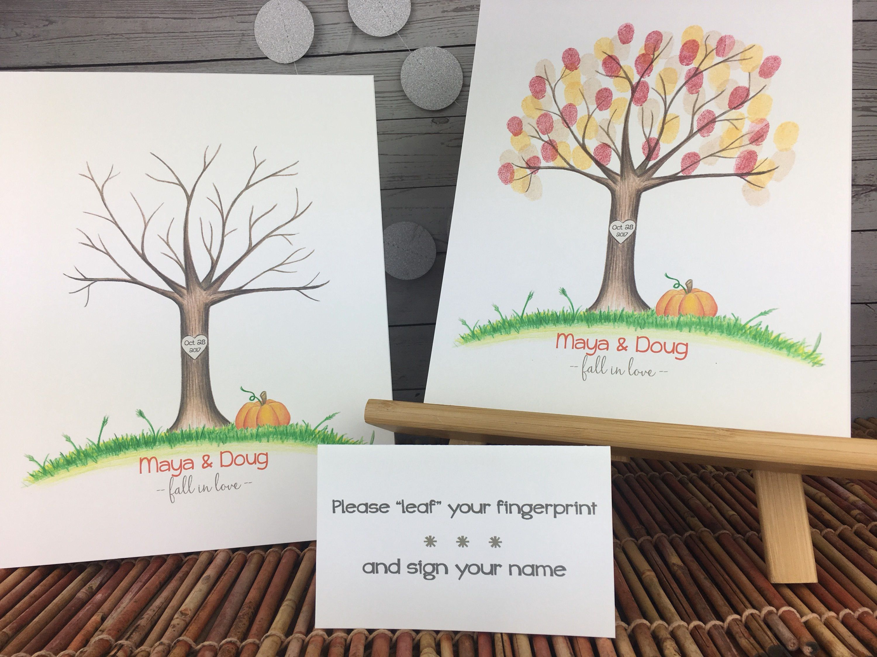Fall wedding guestbook | fall wedding ideas | harvest party | happy ...