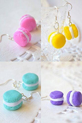Polymer Ton italienischen Macarons Ohrringe Mini Lebensmittel ...