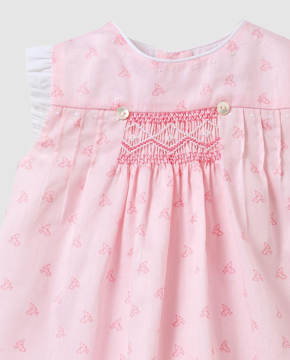 2135466420cd1 Vestido smock de bebé niña Dulces en rosa · Dulces · Moda · El Corte Inglés