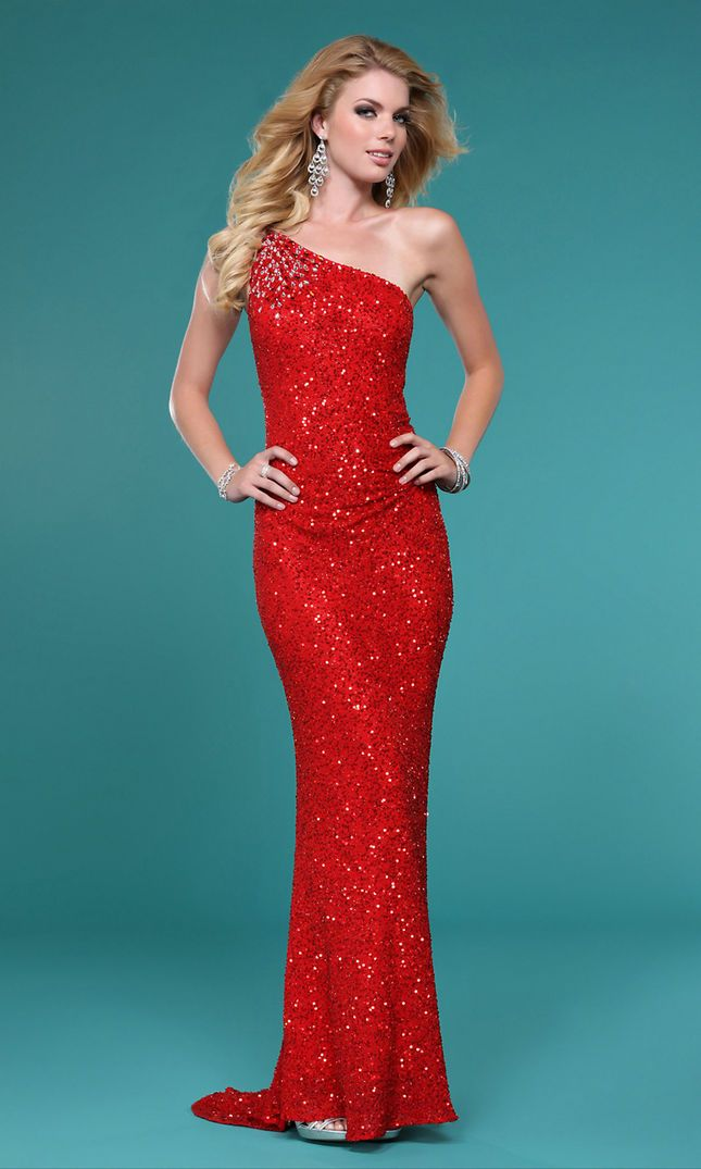 1000  images about One Shoulder Prom Dresses on Pinterest - Beaded ...
