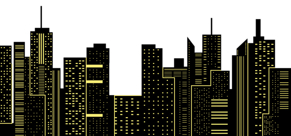 Night City Silhouette Png Clip Art Image New York Skyline Silhouette City Silhouette Skyline Silhouette