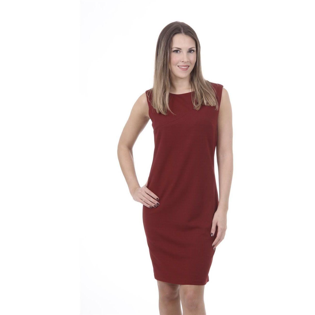 Versace 19.69 Abbigliamento Sportivo Srl Milano Italia Womens Dress ABITO VARDY TESS. SCUBA CREPE BORDEAUX