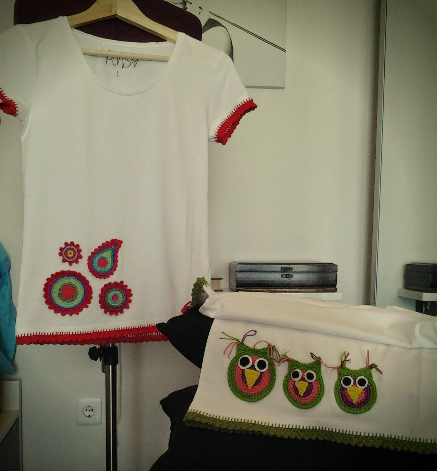 Gemita crochet camisetas decoradas ropa pinterest for Aplicaciones decoradas
