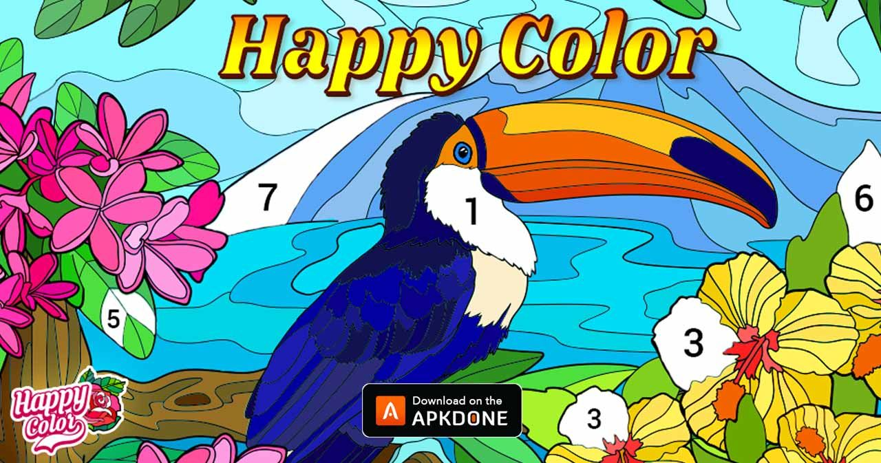 New Apk Happy Color Color By Number Mod Apk 2 8 14 Unlocked Updated Modded Apkdone In 2021 Happy Colors Unique Drawings Happy