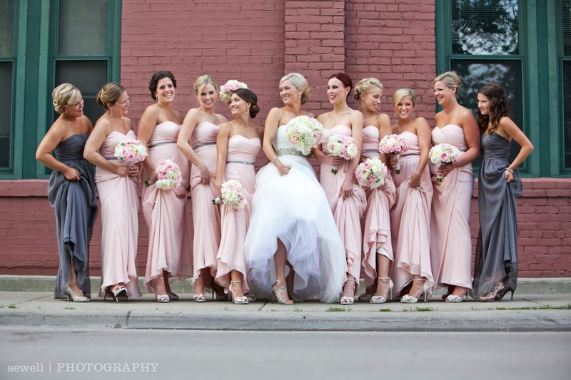 Tessie Scott Depot Minneapolis Wedding Pink Bridesmaids Dresses By Love Lane Sewell
