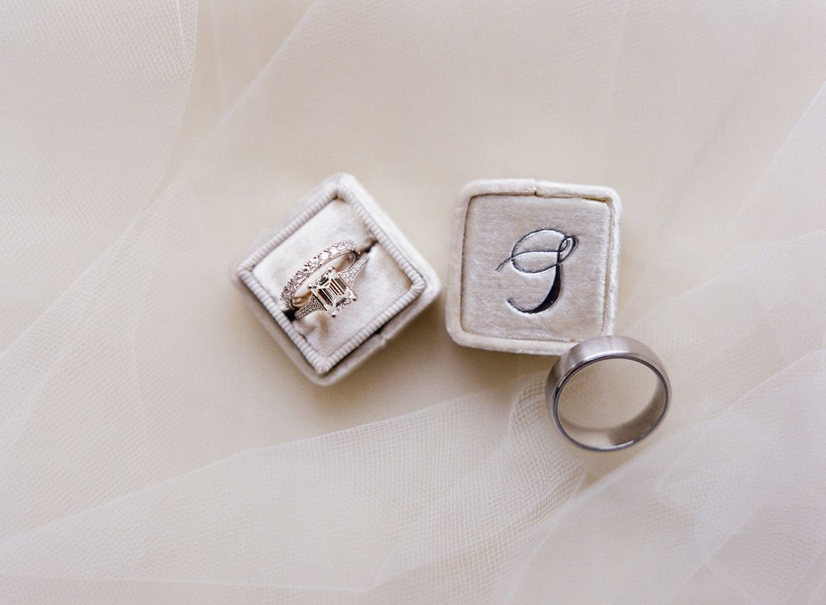 Awesome wedding rings fine art film photographer in DC