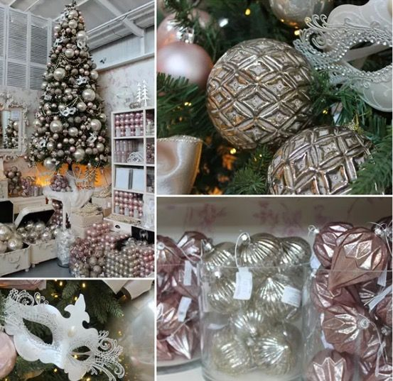 A Stunning Christmas Theme With A Blush Pink And Pearl Colour Scheme On A  Natural Looking Artificial Christmas Tree