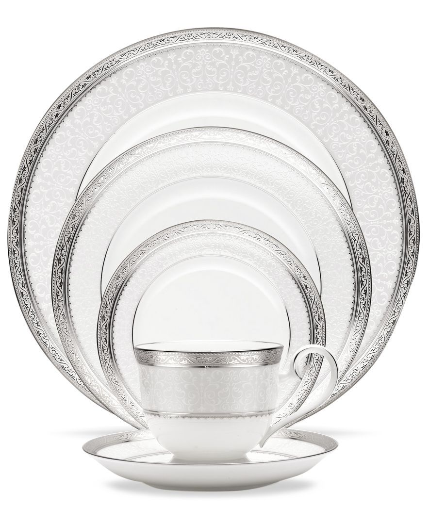 Noritake Dinnerware, Odessa Platinum 5 Piece Place Setting. China PatternsPretty  PatternsFine ...