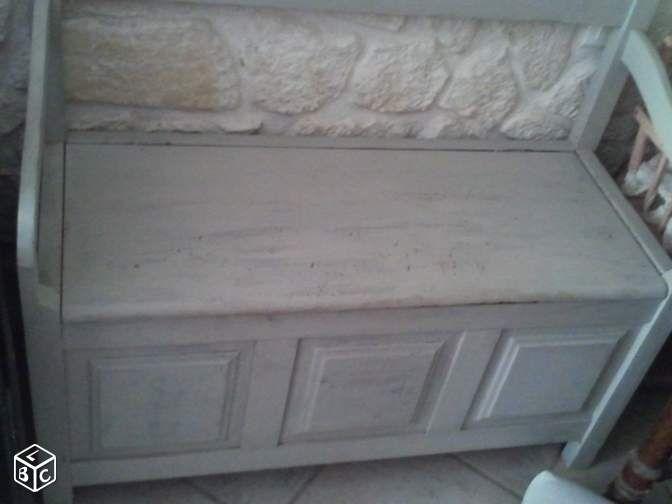 Banc coffre jouets bois cheminee christa8423 Ameublement Vaucluse - leboncoin.fr   Jouets en ...