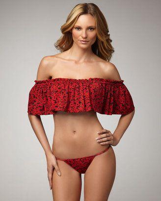 bcb472fd313 ShopStyle: Yves Saint Laurent Ruffled Off-The-Shoulder Bikini ...