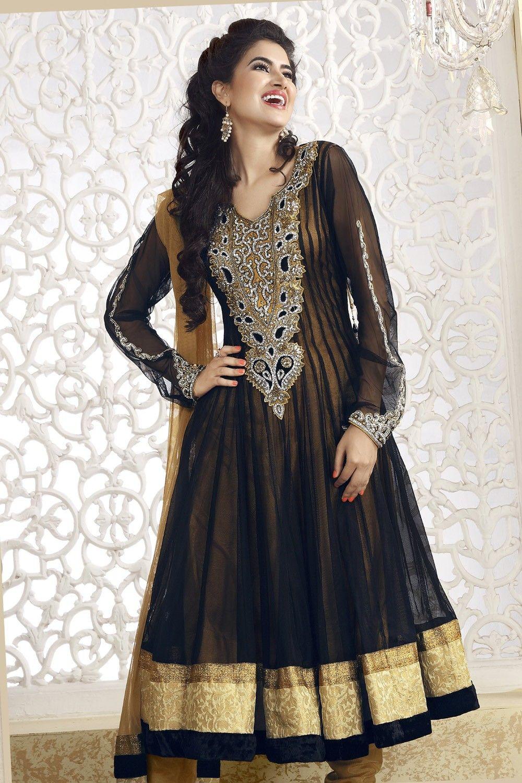 Enigmatic Bige Brown Black Salwar Kameez Special Discount 15 On Checkout Use This Coupon Code Eidspcl15 Buy Fashion Salwar Kameez Designs Utsav Fashion