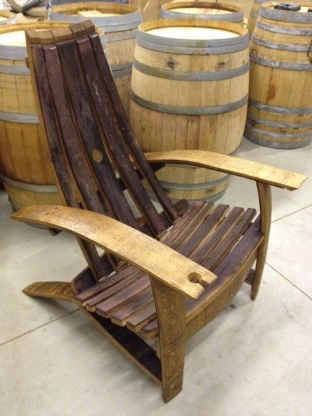 Wine Barrel Adirondack Chairs With Holder Woot Awesome
