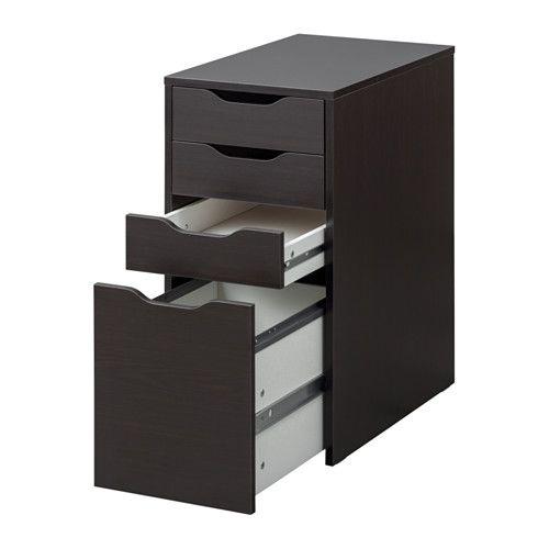 ALEX Drawer Unit/drop File Storage   Black Brown   IKEA