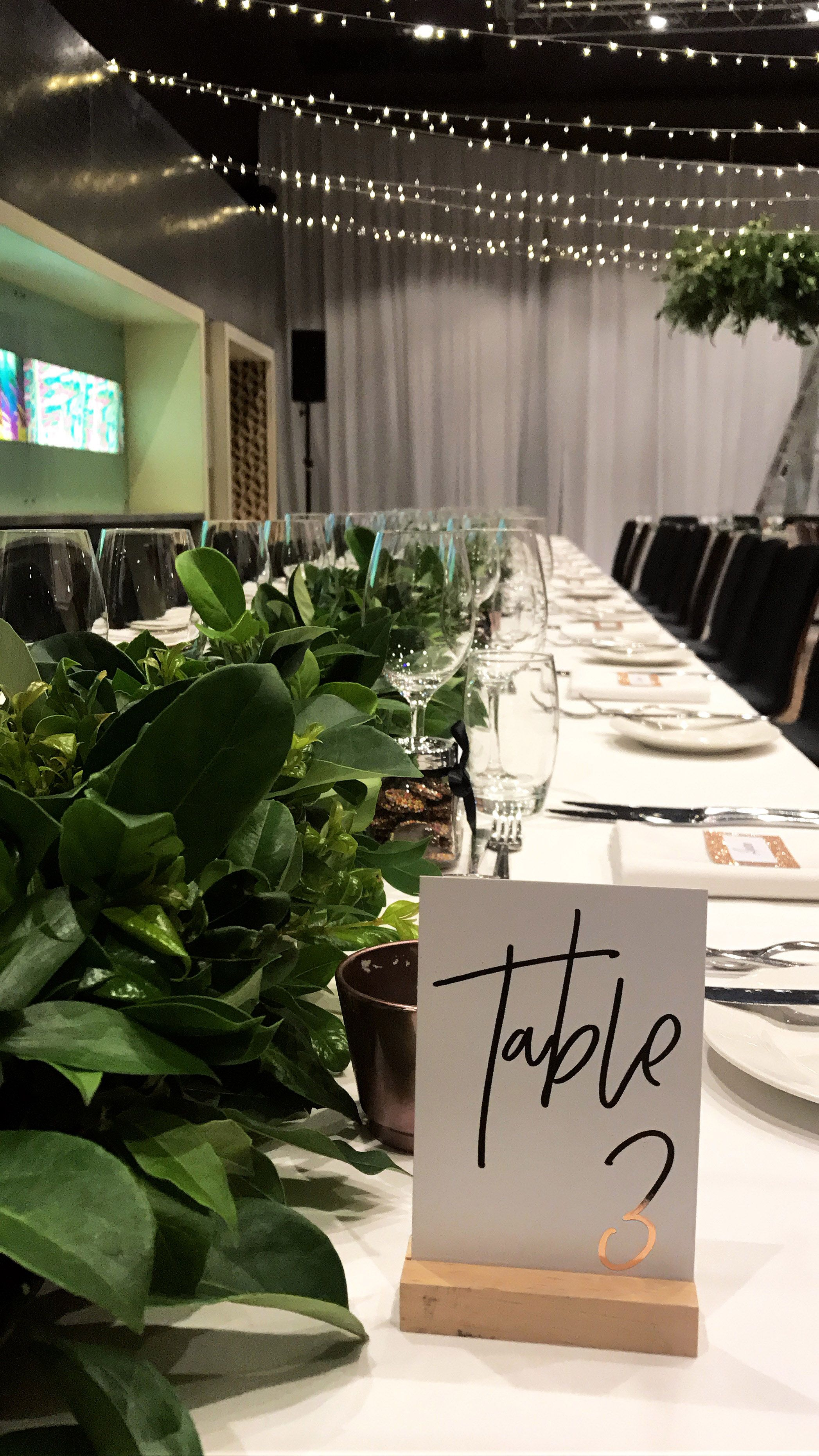 Long Tables #natwinecentre #tabledecor #greenery