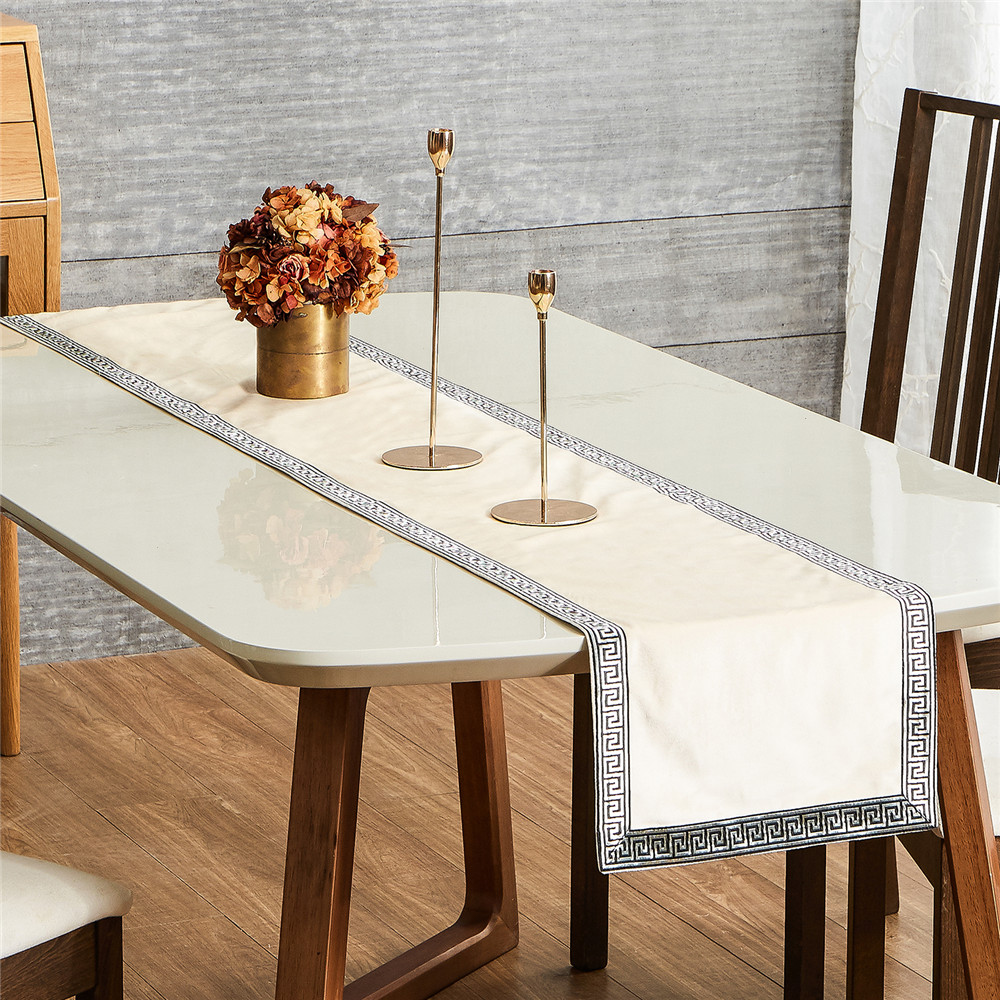 European Style Stylish Table Runner Luxury Dining Table Coffee Table Flag Classical Simplicity Embroi Stylish Tables Luxury Dining Tables Furniture Restoration