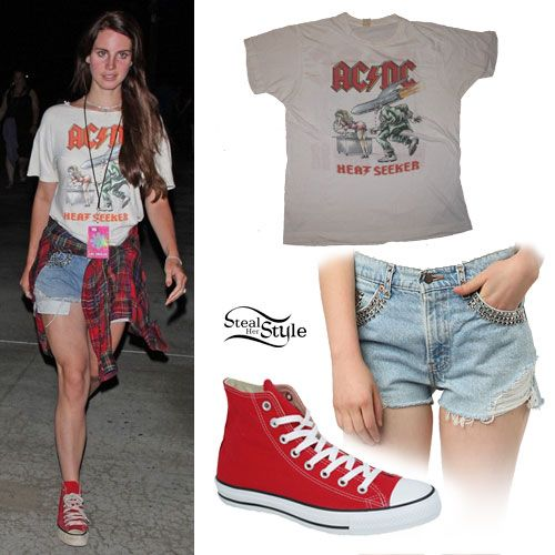 rosario Cliente Moretón  Lana Del Rey Clothes, Style & Fashion | Steal Her Style | High tops outfit,  Red converse outfit, High top converse outfits