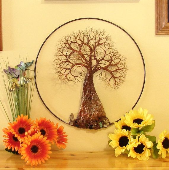 Tree Of Life sculpture wall decor Family Tree of by CrowsFeathers ...