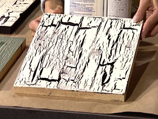 How to Apply a Crackle Finish Crackle painting, Cracked