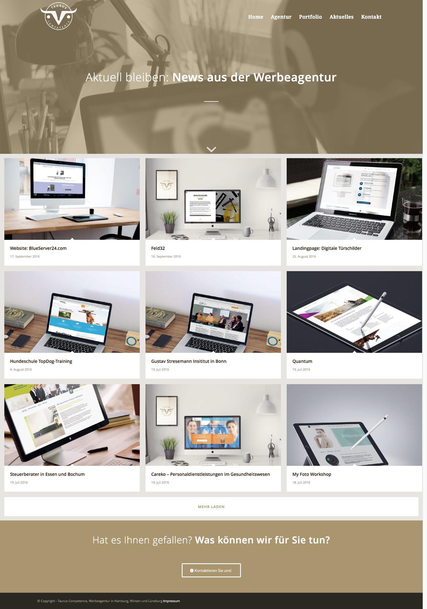 Aktuelles und Referenzen Werbeagentur